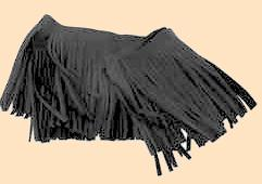 Deertan Leather Fringe - black leather fringe