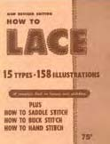 how to lace book - leather craft supplies
