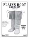 plains book moccasin leathercraft pattern pack