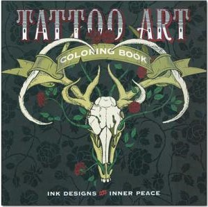 tatto art coloring book line art for leather
