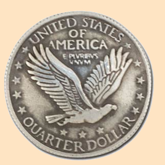 eagle quarter concho 1 inch screwback