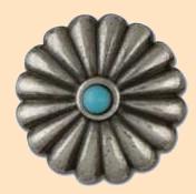 southwest turquoise concho