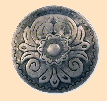 economy rivet round flower concho