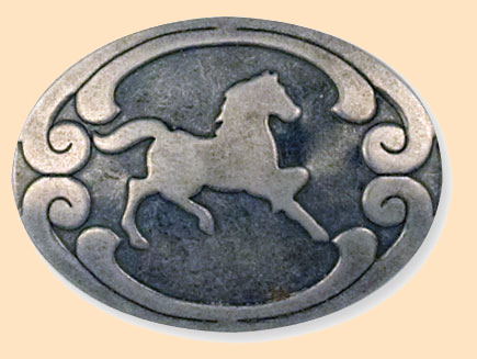 economy rivetback horse concho