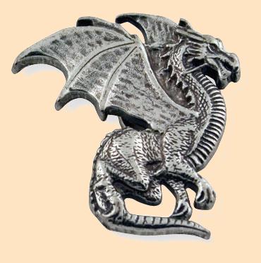winged dragon leathercraft concho