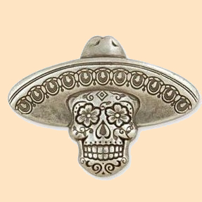 sugar skull sombrero concho