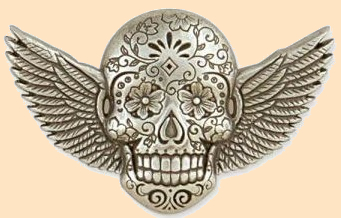 sugar skull winged concho