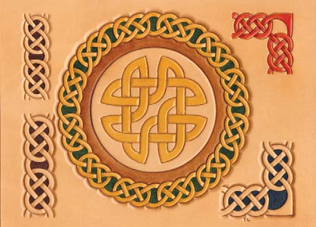 Craftaid, Template, Leather Pattern, Leathercraft Pattern, Leathercraft Supplies, Celtic Circles