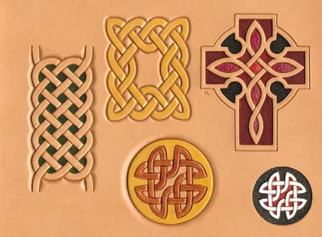 Craftaid, Template, Leather Pattern, Leathercraft Pattern, Leathercraft Supplies, celtic knotwork