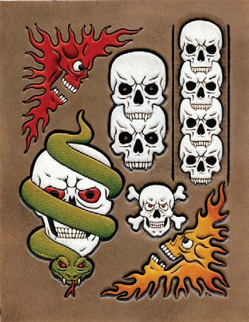 Craftaid, Template, Leather Pattern, Leathercraft Pattern, Leathercraft Supplies, skull designs