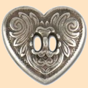slotted heart concho