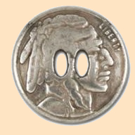 slotted indian head nickel concho