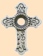 cross bezel concho