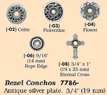 bezel conchos leathercraft supplies concho