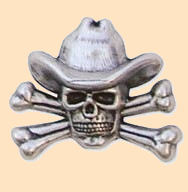 cowboy skull and crossbones concho