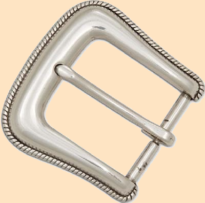 rope edge buckle, belt buckle,