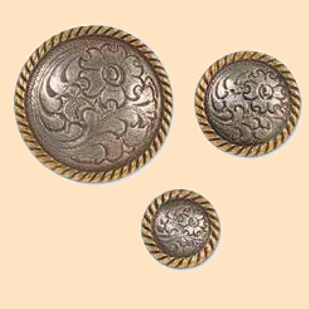 high sierra concho antique silver and gold