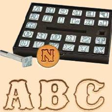 leather stamp set, alphabet stamps,  leather stamps, leatherwork, leathercraft