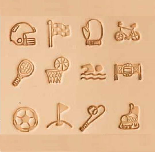 sports leather stamp set