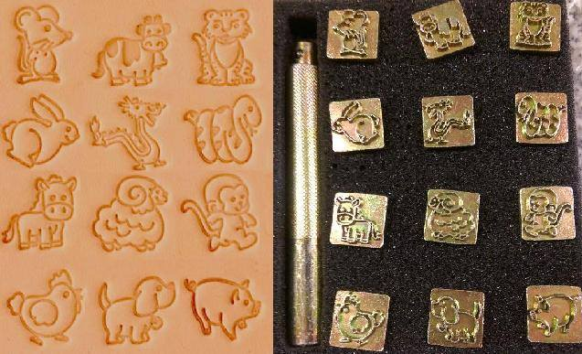 Cartoon Animal Leather Stamp Set