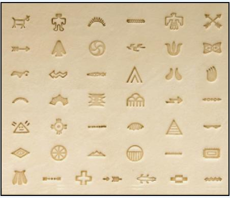 native american symbol leatherwork stamp set,  leather stamps, leatherwork, leathercraft