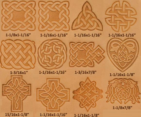 celtic knotwork design leather stamp set, leather stamps, leatherwork, leathercraft