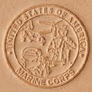 3D leather stamp marine corps