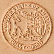 3D leather stamp coast guard