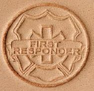 3D leather stamp first responder