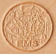 3D leather stamp EMS emergency medical services