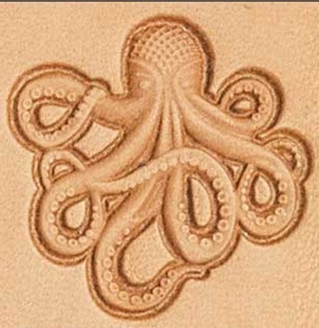 Octopus 3d Stamp Leather Leathercraft Leatherwork Supplies 3D