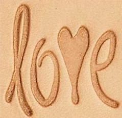 love 3d stamp, leather stamp, leathercraft, leatherwork, leathercraft supplies