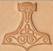mjolnir 3d stamp, leather stamp, leathercraft, leatherwork, leathercraft supplies
