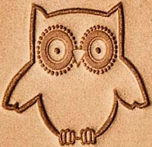 owl 3d stamp leather stamp leathercraft leatherwork stamping