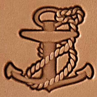rope anchor 3d stamp, leather stamp, leathercraft, leatherwork, leathercraft supplies