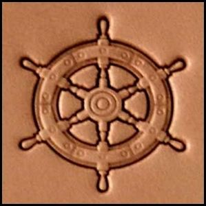 ships wheel 3d stamp, leather stamp, leathercraft, leatherwork, leathercraft supplies