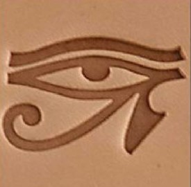 eye of horus 3d stamp, leather stamp, leathercraft, leatherwork, leathercraft supplies