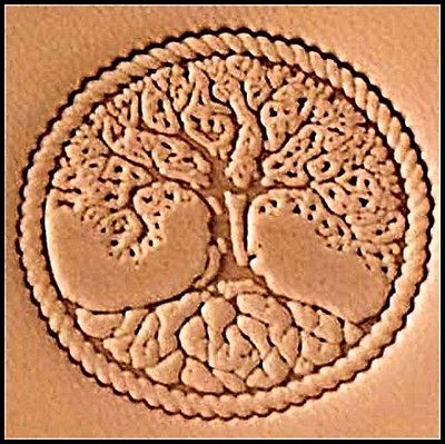 Tree of Life 3d stamp, leather stamp, leathercraft, leatherwork, leathercraft supplies