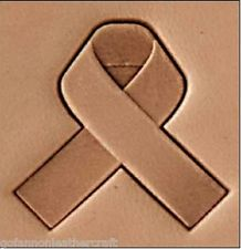 support ribbon 3d stamp, leather stamp, leathercraft, leatherwork, leathercraft supplies