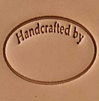 handcrafted circle 3d stamp, leather stamp, leathercraft, leatherwork, leathercraft supplies