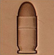 bullet 3d stamp, leather stamp, leathercraft, leatherwork, leathercraft supplies