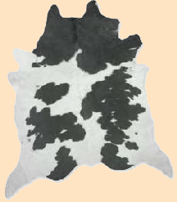 Black, white hair on cowhide, cowhide rug hair-on cow hide