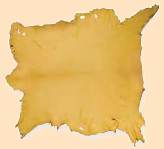 gold elk hide, elkskin, elk leather
