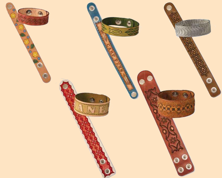adjustable wristband kits, leather wristbands, leather bracelets