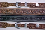 carved leather belts