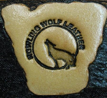 howling wolf leather, leathercraft carving, leatherwork