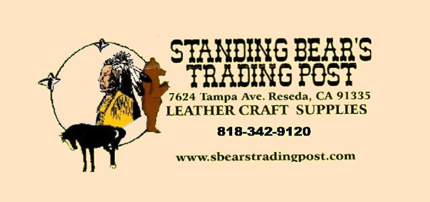 standing bears trading post, leathercraft supplies, support small business,