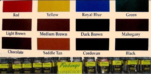 leather colors, leather dyes, fiebing, leathercraft supplies, leatherwork supplies, reseda, san fernando valley, los angeles