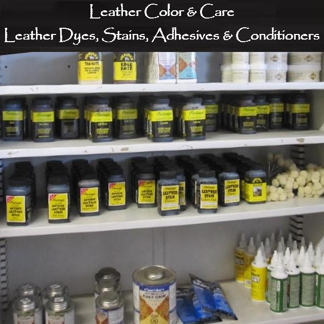 leather dyes & stains, leather finishes, leather glue, adhesives, leatherwork, leathercraft supplies