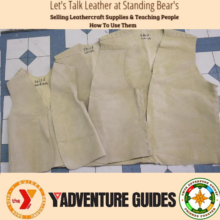 indian guide vest, adventure guide vest, yguide vest, suede vest kit